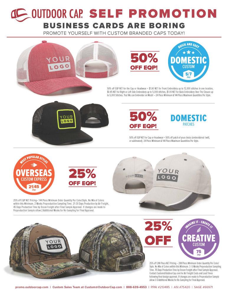 3607b59be48 OUTDOOR CAP Custom Branded Caps